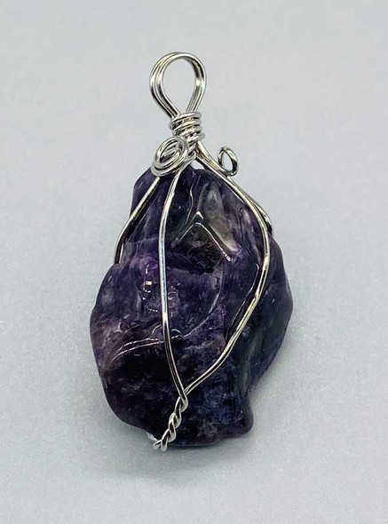 Wire Wrapped Polished  Amethyst
