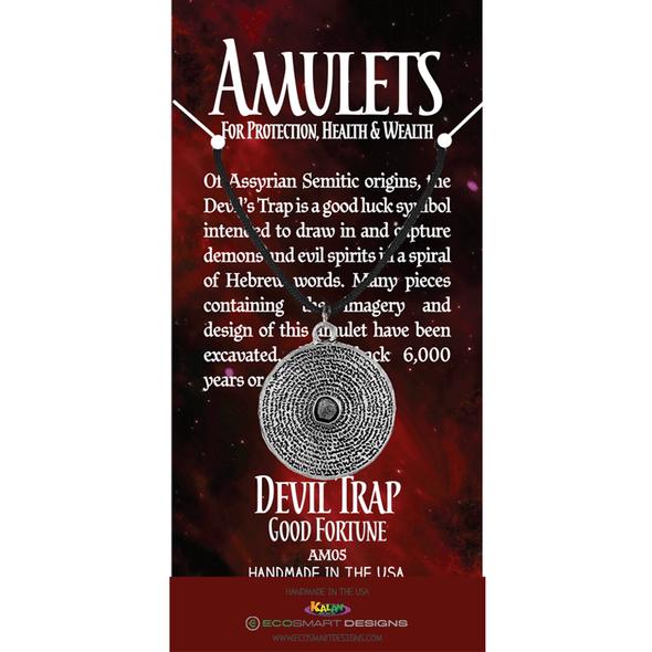 Devil's Trap Pewter Amulet