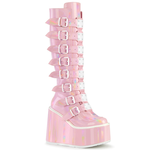 Pink Holo Swing Boots