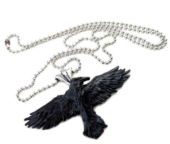 crow necklace