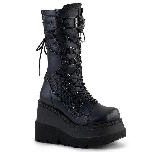 D Ring Wedge Boots