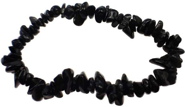 Obsidian chip Bracelet
