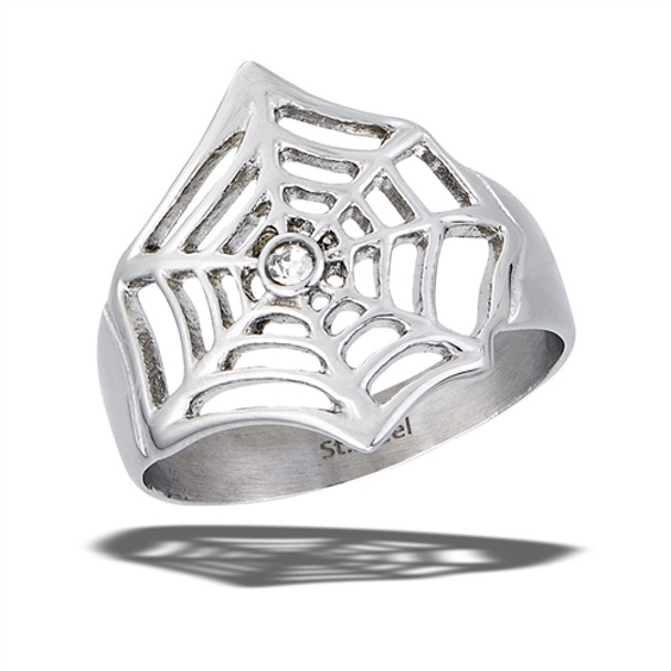 Stainless Steel spiderweb Ring