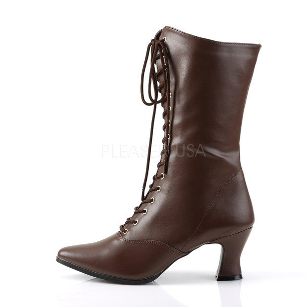 brown victorian boots