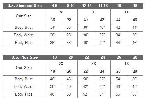 goth size chart for gloomy tuesday dress