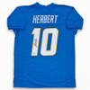 Justin Herbert Autographed Signed Jersey - Powder Blue - Beckett Authentic