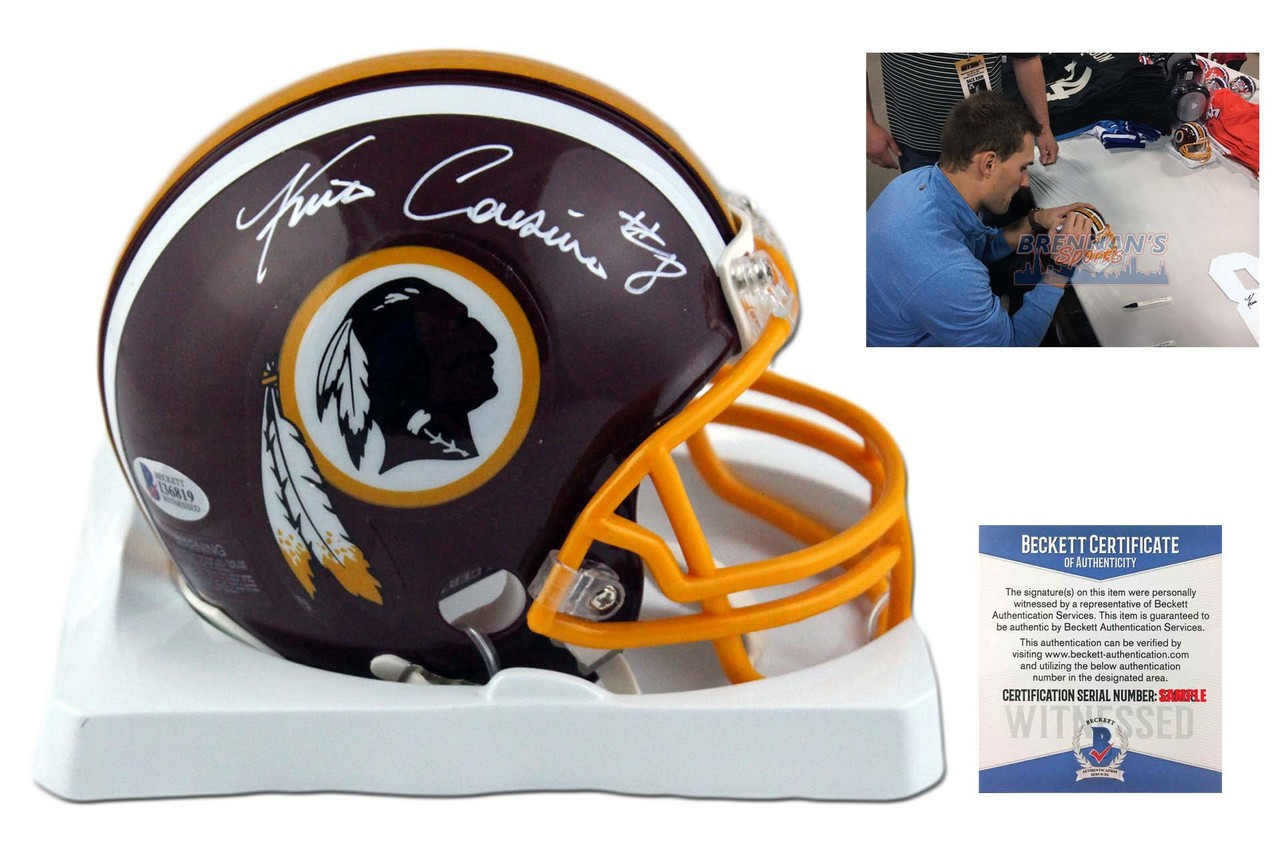 f1583be8 Kirk Cousins Autographed Signed Washington Redskins Mini Helmet - Beckett
