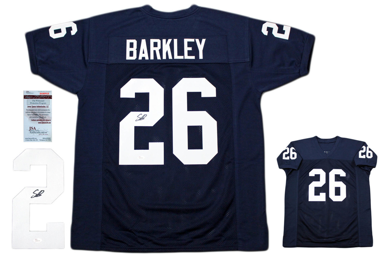 best service 7ff00 3263c Saquon Barkley Autographed Signed Jersey - JSA Witnessed Authentic