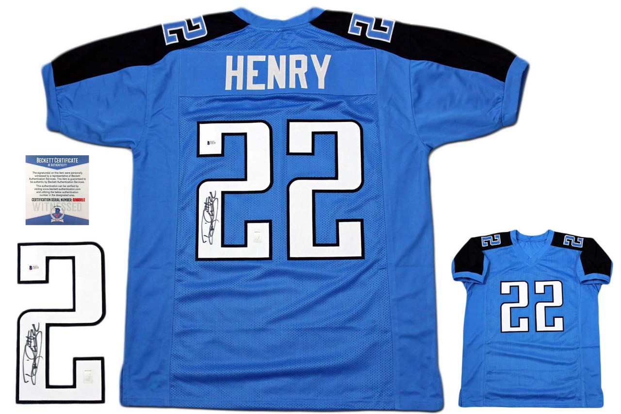 Derrick Henry Autographed Signed Jersey - Beckett Authentic - Blue ... 8ce4a222a