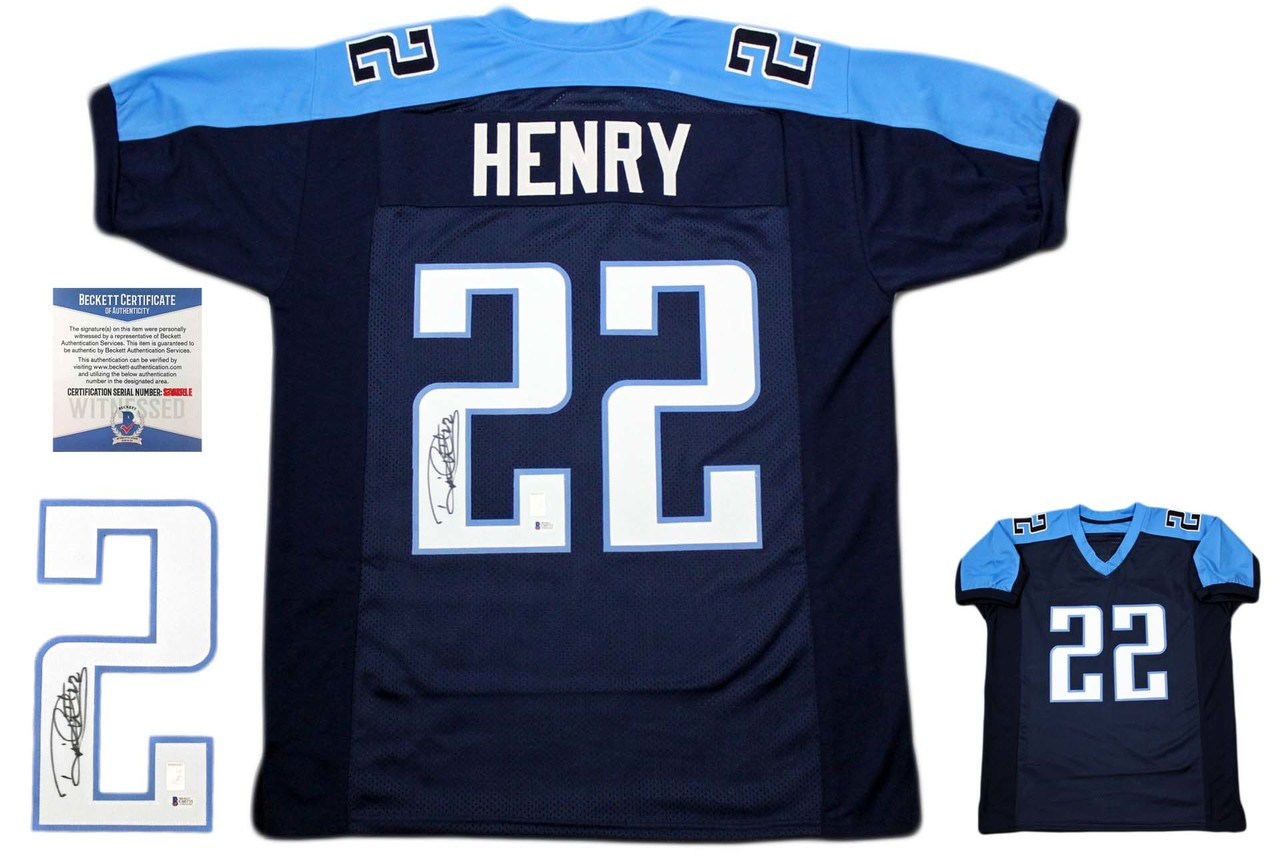 classic fit e612a 8d7e7 Derrick Henry Autographed Signed Jersey - Beckett Authentic - Navy