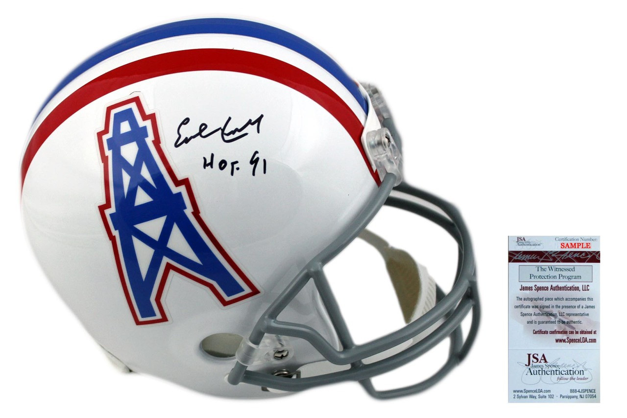check out 5d5b8 138d4 Earl Campbell Autographed Houston Oilers Full Size Helmet - JSA Authentic