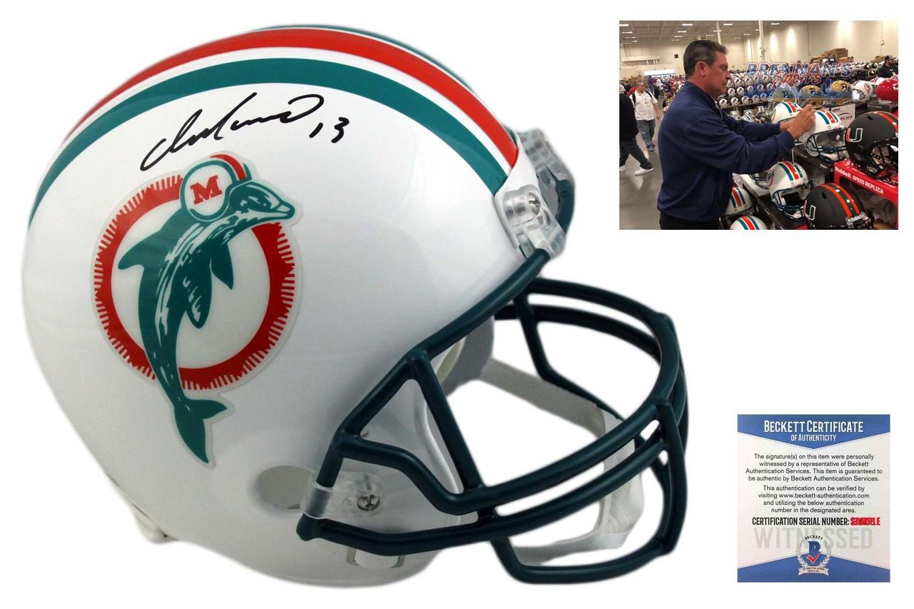 Dan Marino signed Miami Dolphins Riddell FS TB Rep Helmet #13-JSA Witnessed Holo