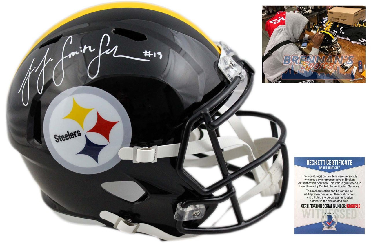 a9faa3d0e46 JuJu Smith-Schuster Autographed Helmet - Pittsburgh Steelers Signed -  Beckett