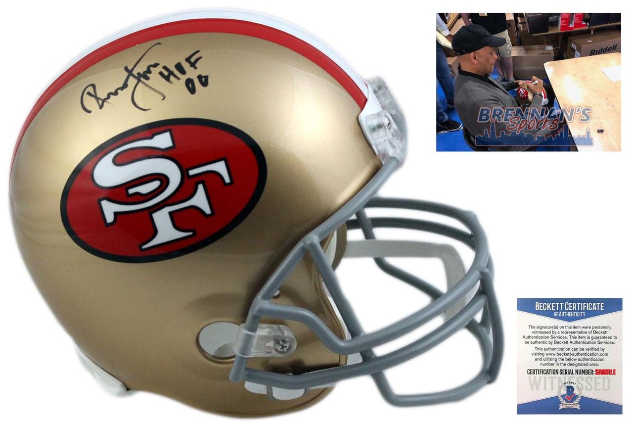 new concept 205b5 3d3c9 Ronnie Lott Autographed Helmet - San Francisco 49ers Signed - Beckett