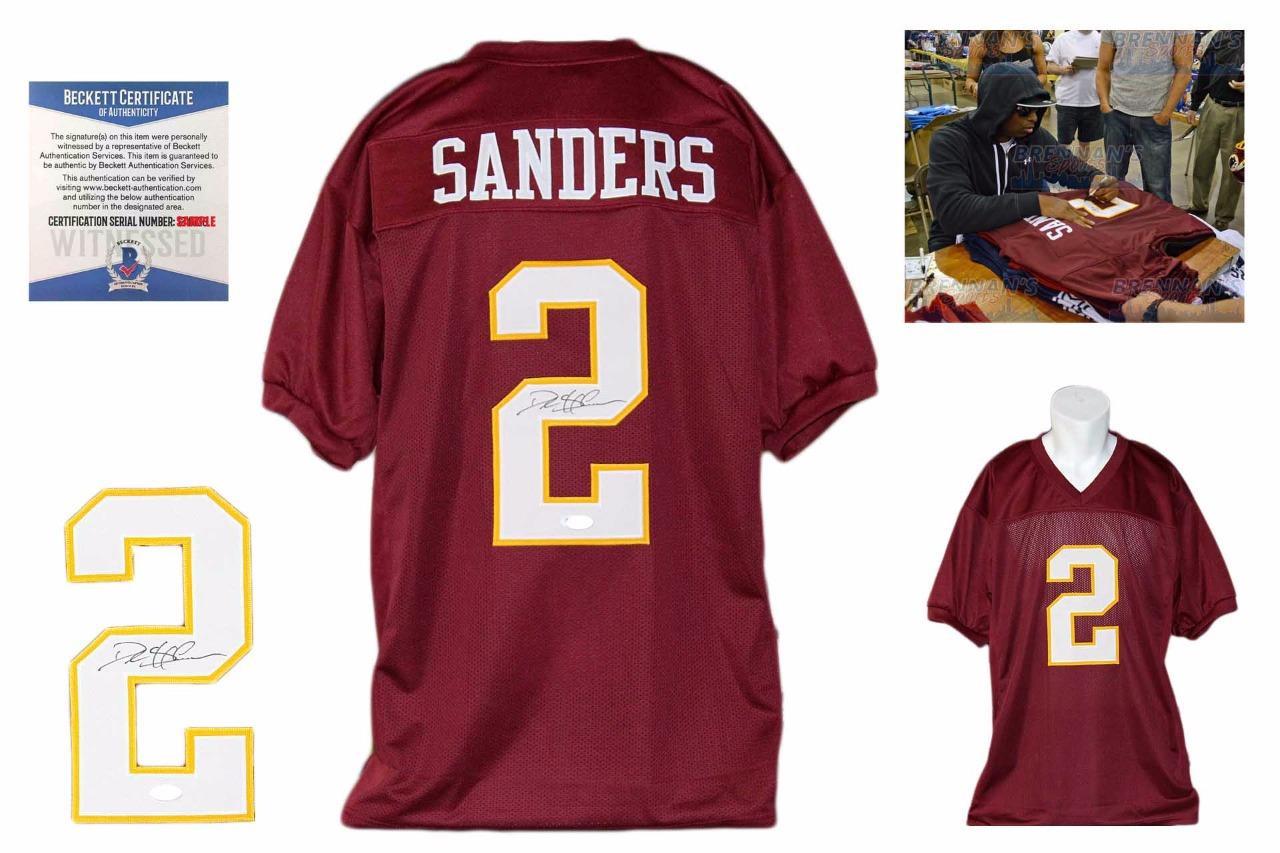 012a62a27 Deion Sanders Signed Jersey - JSA Witness - Florida State Seminoles  Autographed - BrennansSports.com