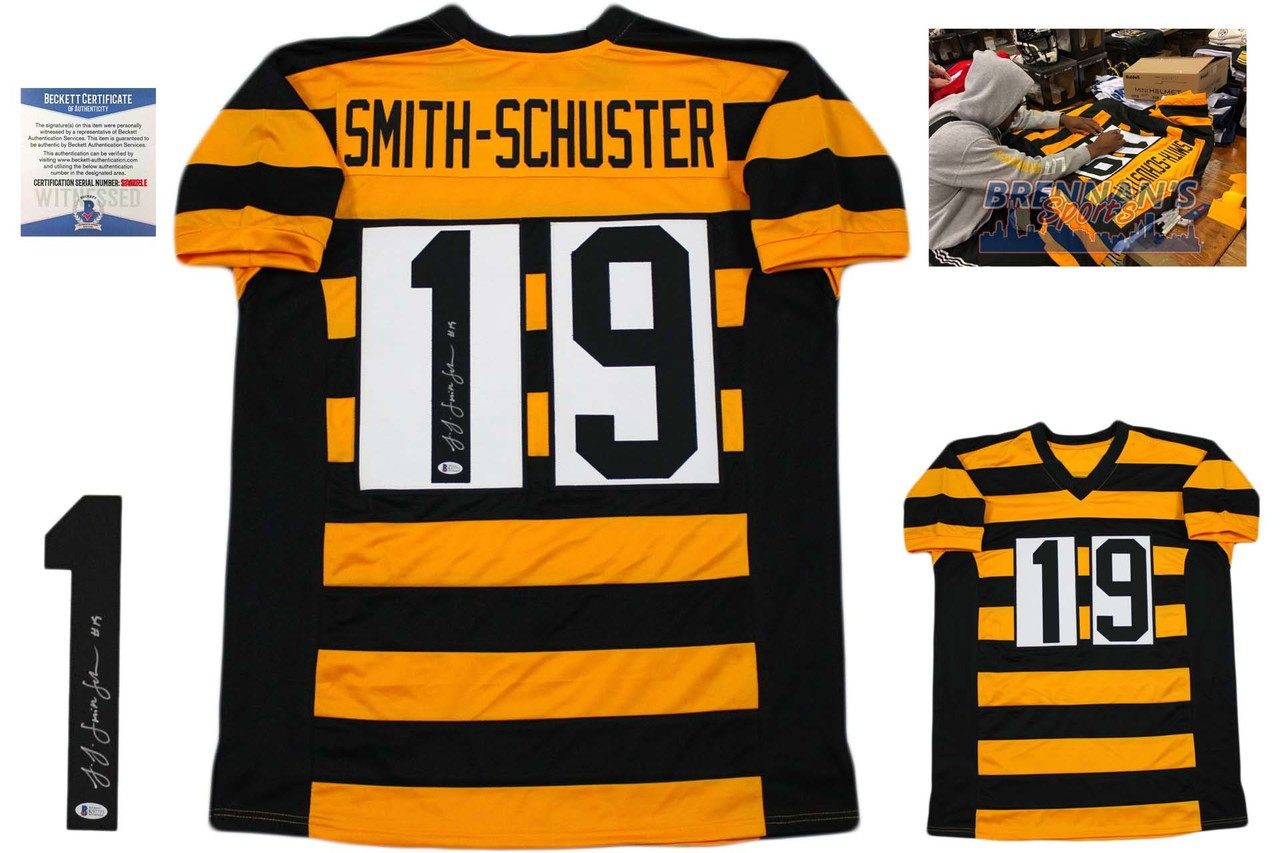 big sale 75be4 d7742 JuJu Smith-Schuster Autographed Jersey - Beckett Authentic - Bumblebee