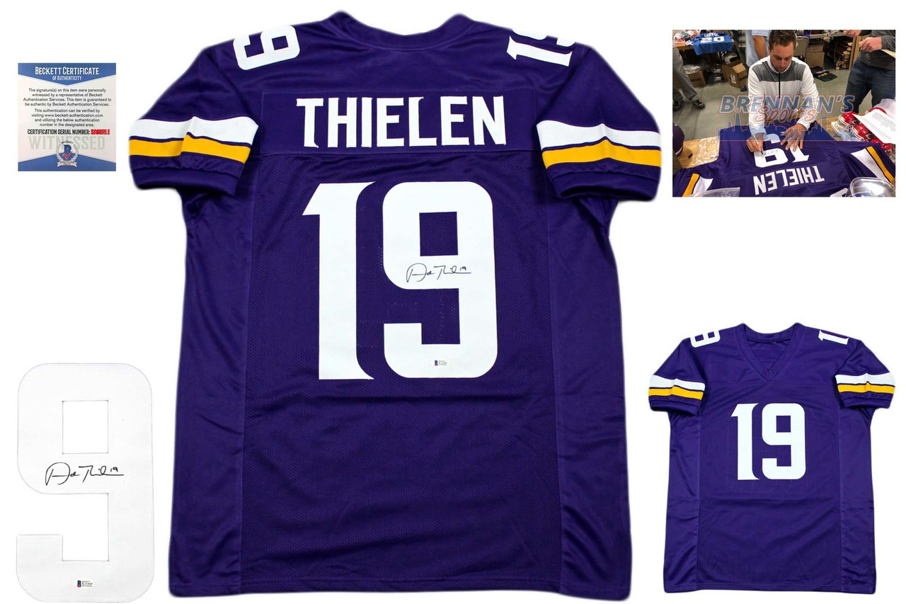 ce7b09b68 Adam Thielen Autographed Jersey - Beckett Authentic - Purple ...