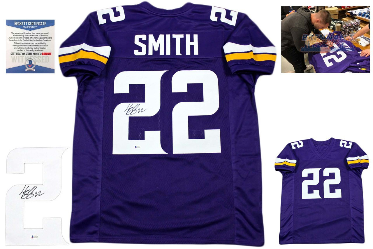 Harrison Smith Signed Jersey - Beckett Authentic - Purple ... f039891bd822