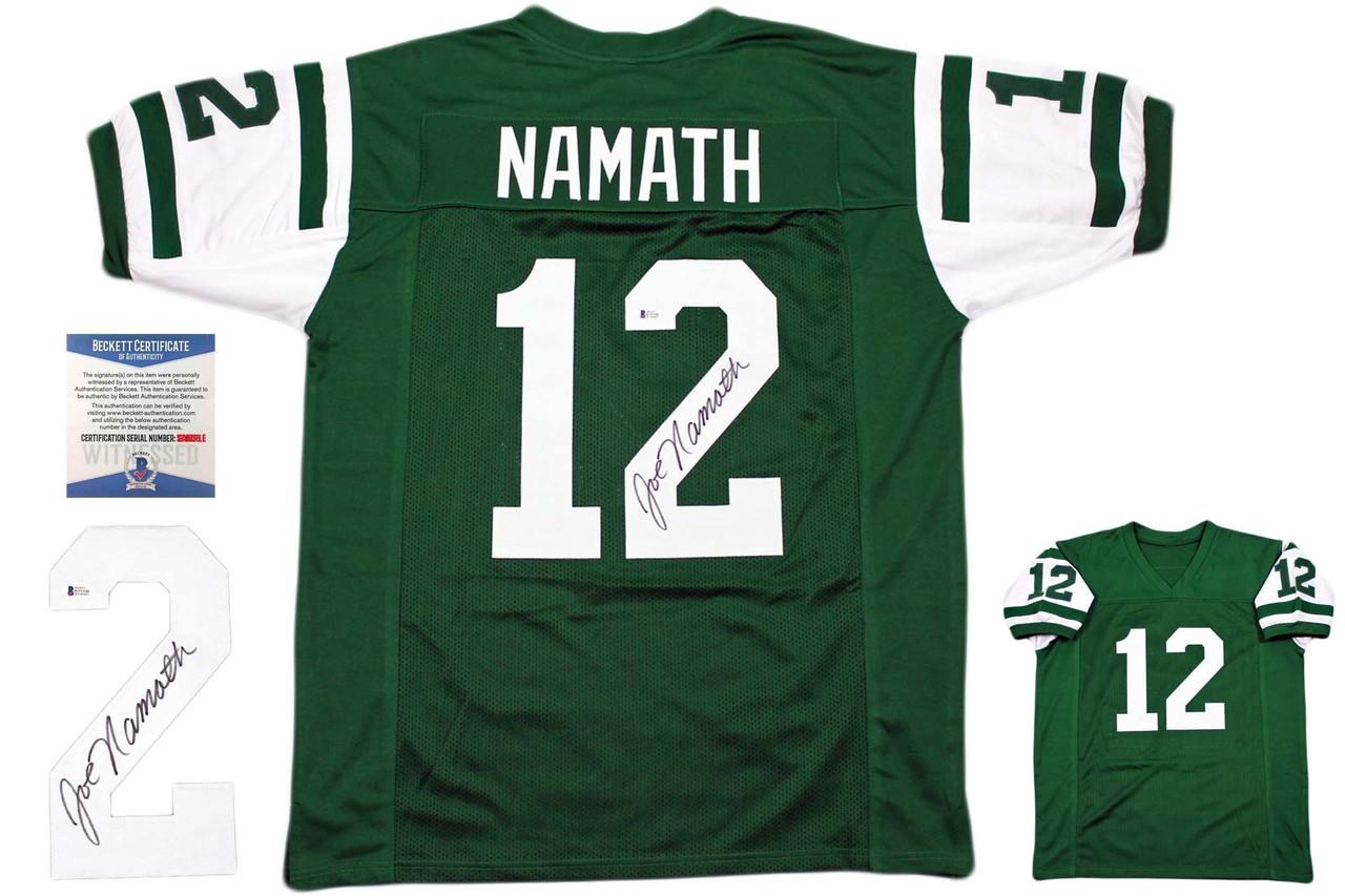 a4e6dd2a912 Joe Namath Autographed Jersey - Beckett Authentic - Green ...