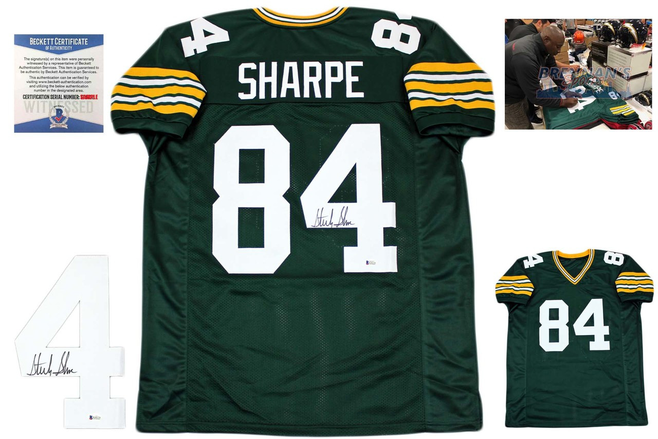 6dc1bad73 Sterling Sharpe Autographed Jersey - Beckett Authenticated - Green ...