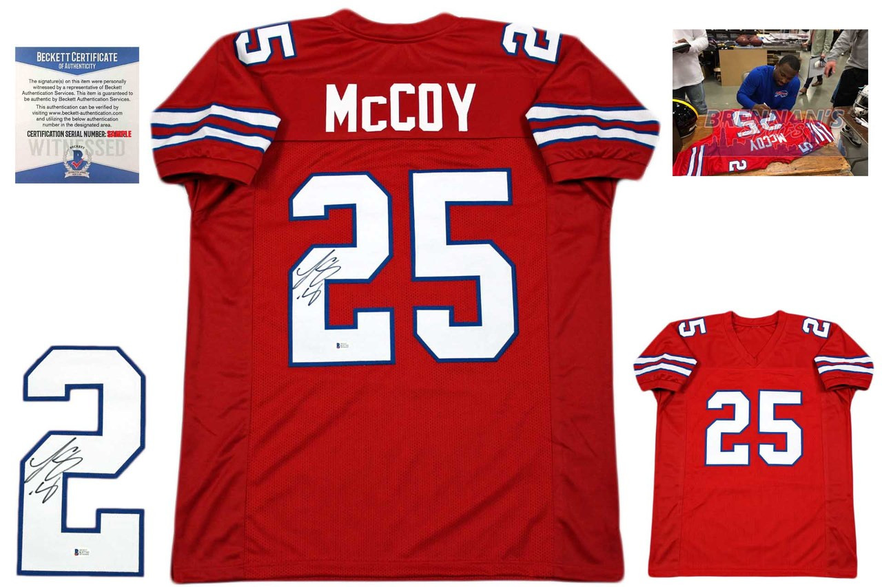 pretty nice d760b e6a46 Lesean McCoy Autographed Jersey - Beckett Authenticated - Red