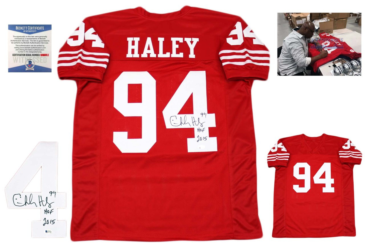 ecd0609bbef Charles Haley Autographed Signed Jersey - Beckett Authentic - Red ...