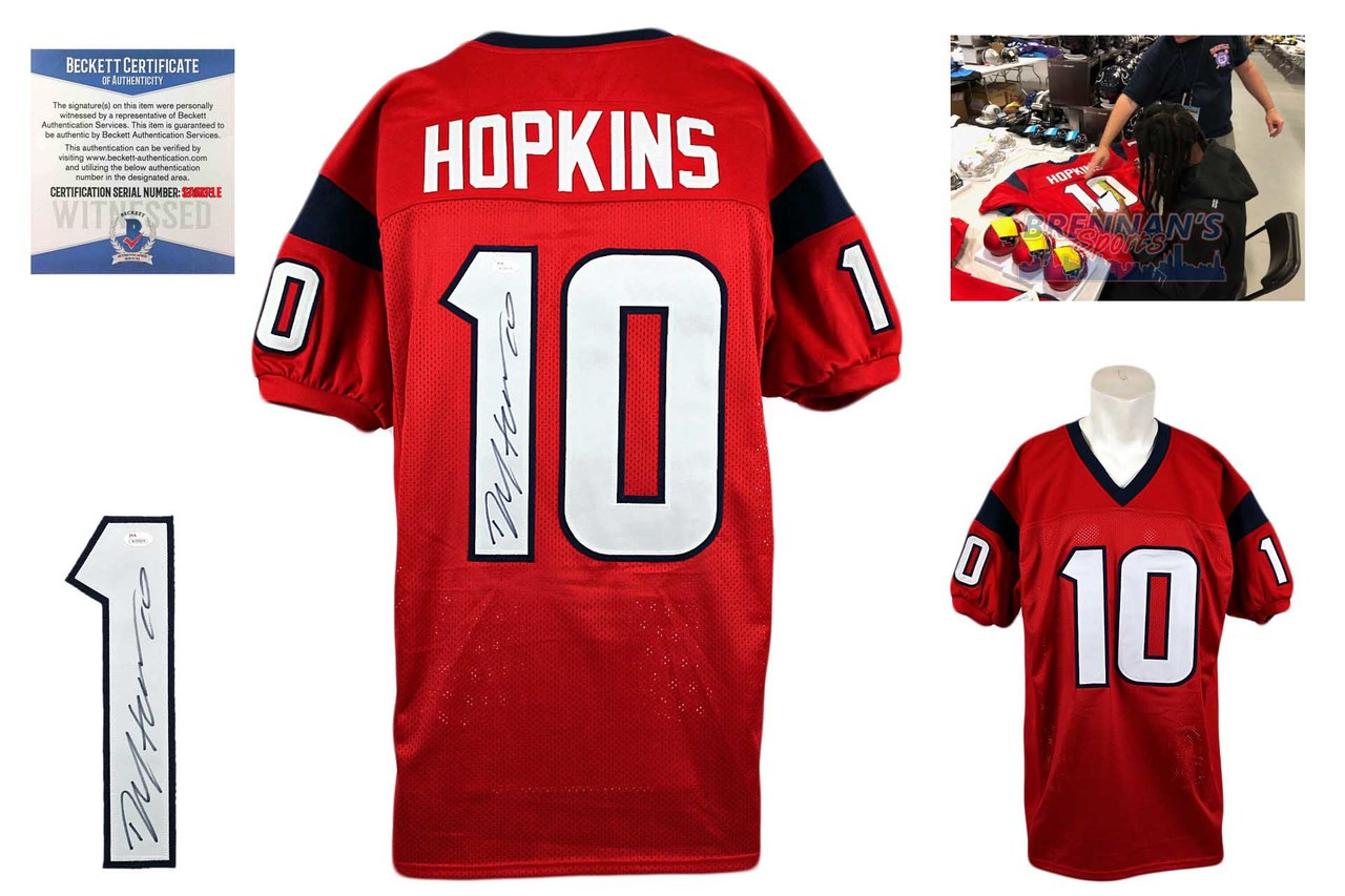 online store 4b12f 496b7 DeAndre Hopkins Autographed Signed Jersey - Beckett Authentic - Red