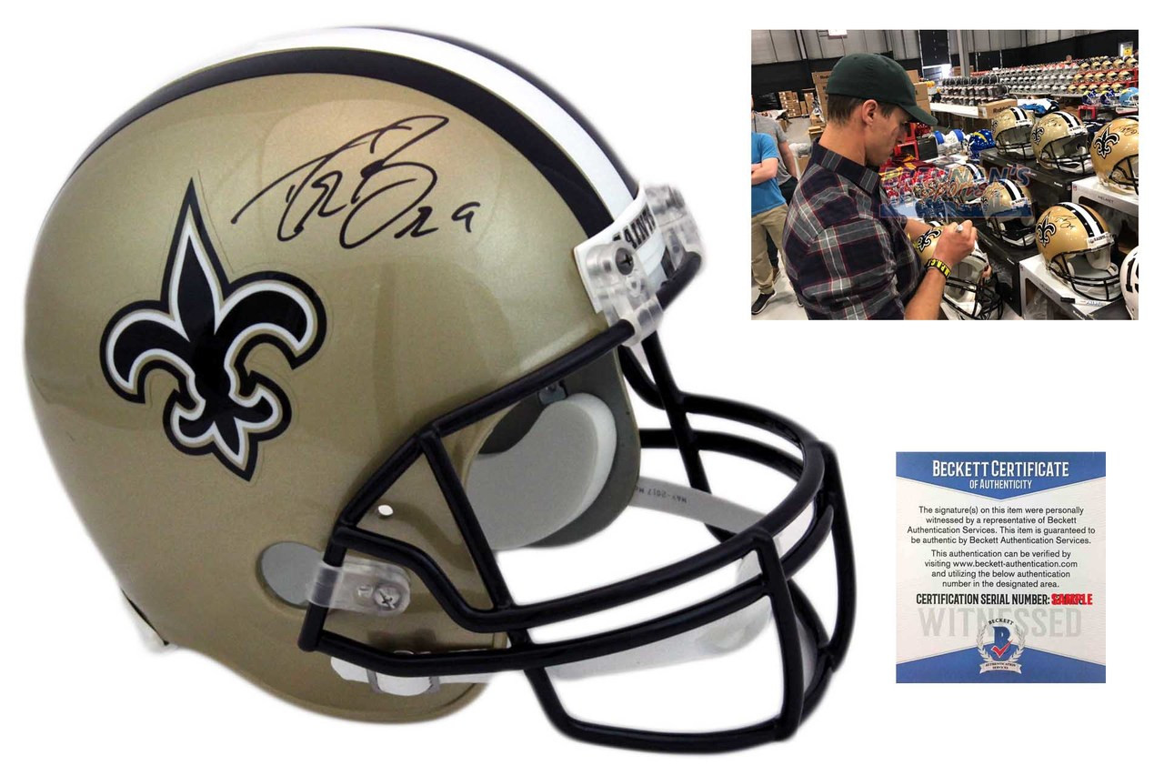 Drew Brees Autographed SIGNED New Orleans Saints Helmet - Beckett ... 6fffb1e56