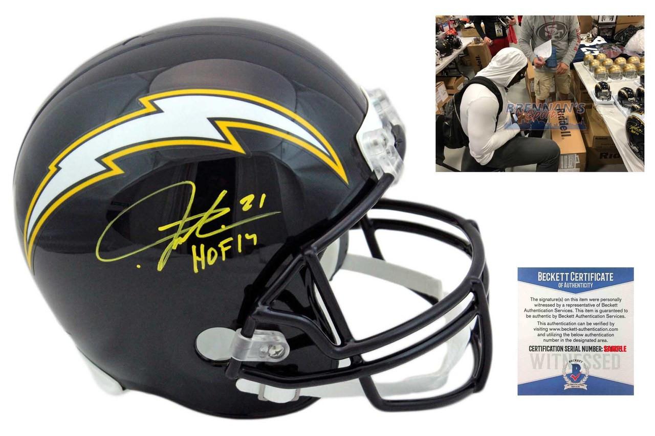 detailed look 3d99c 350ff Ladainian Tomlinson Autographed Full Size Helmet - Beckett Authentic - HOF  17 - Navy