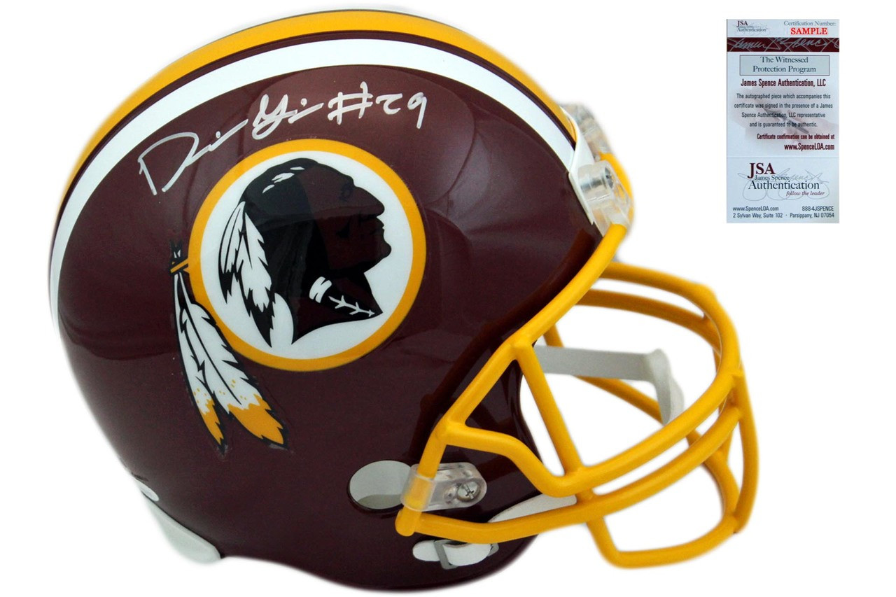 Derrius Guice Autographed SIGNED Washington Redskins Helmet - JSA ... d7b720790