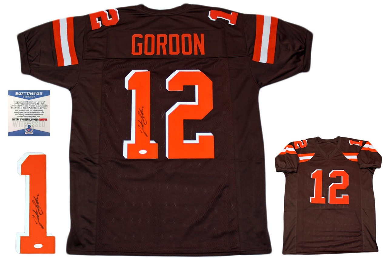 c22f156c503 Josh Gordon Autographed Signed Jersey - JSA Witnessed - Brown ...