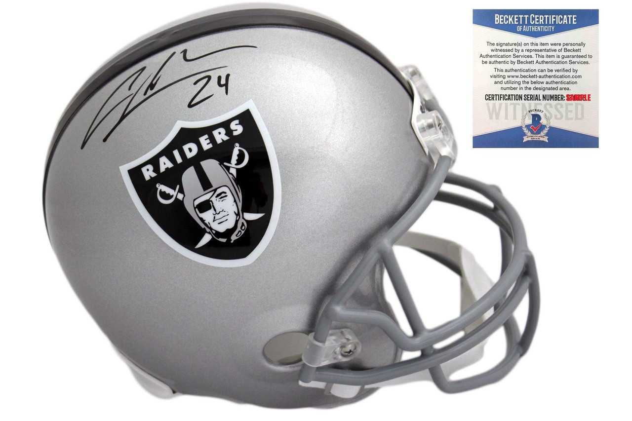 super popular 6cef7 f7d08 Charles Woodson Autographed SIGNED Oakland Raiders Helmet - Beckett  Witnessed