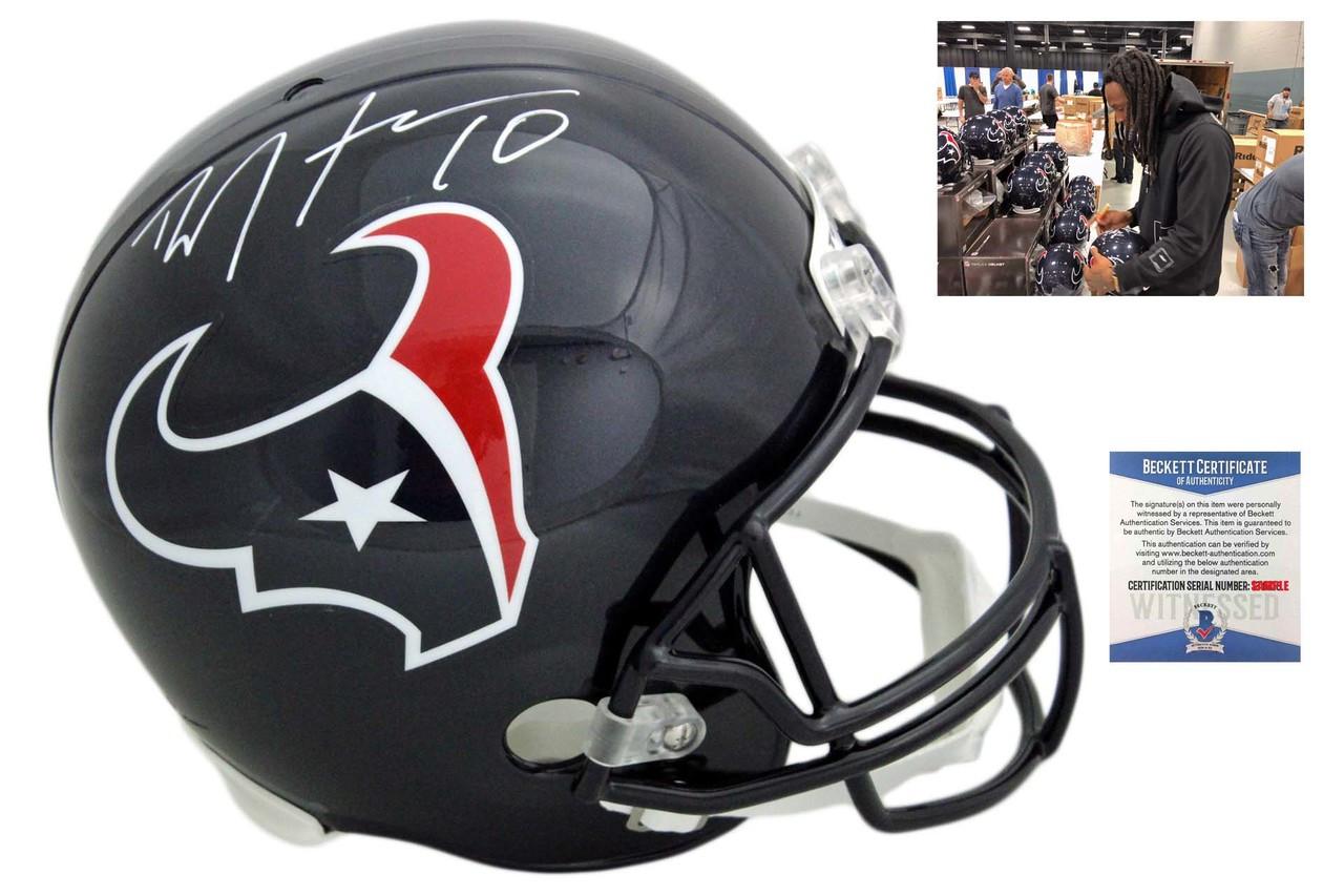 the latest f4efb 4b1a7 Deandre Hopkins Autographed SIGNED Houston Texans Helmet - Beckett Witnessed