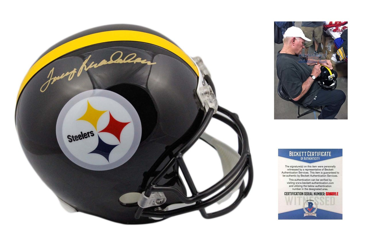 43391f5b6 Terry Bradshaw Autographed Pittsburgh Steelers Full Size Helmet ...