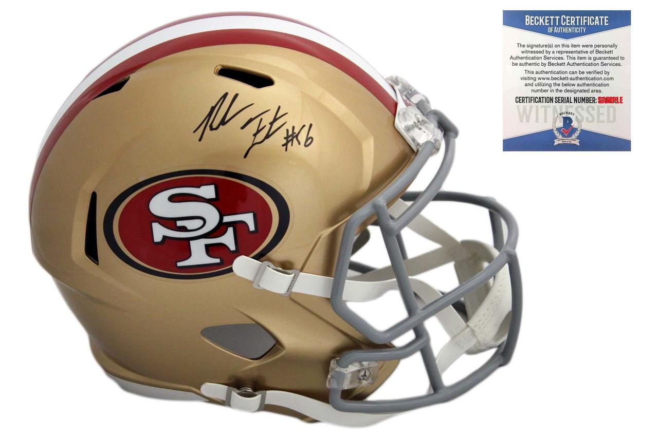 f6d650f7b Reuben Foster Autographed Signed San Francisco 49ers Speed Rep Helmet