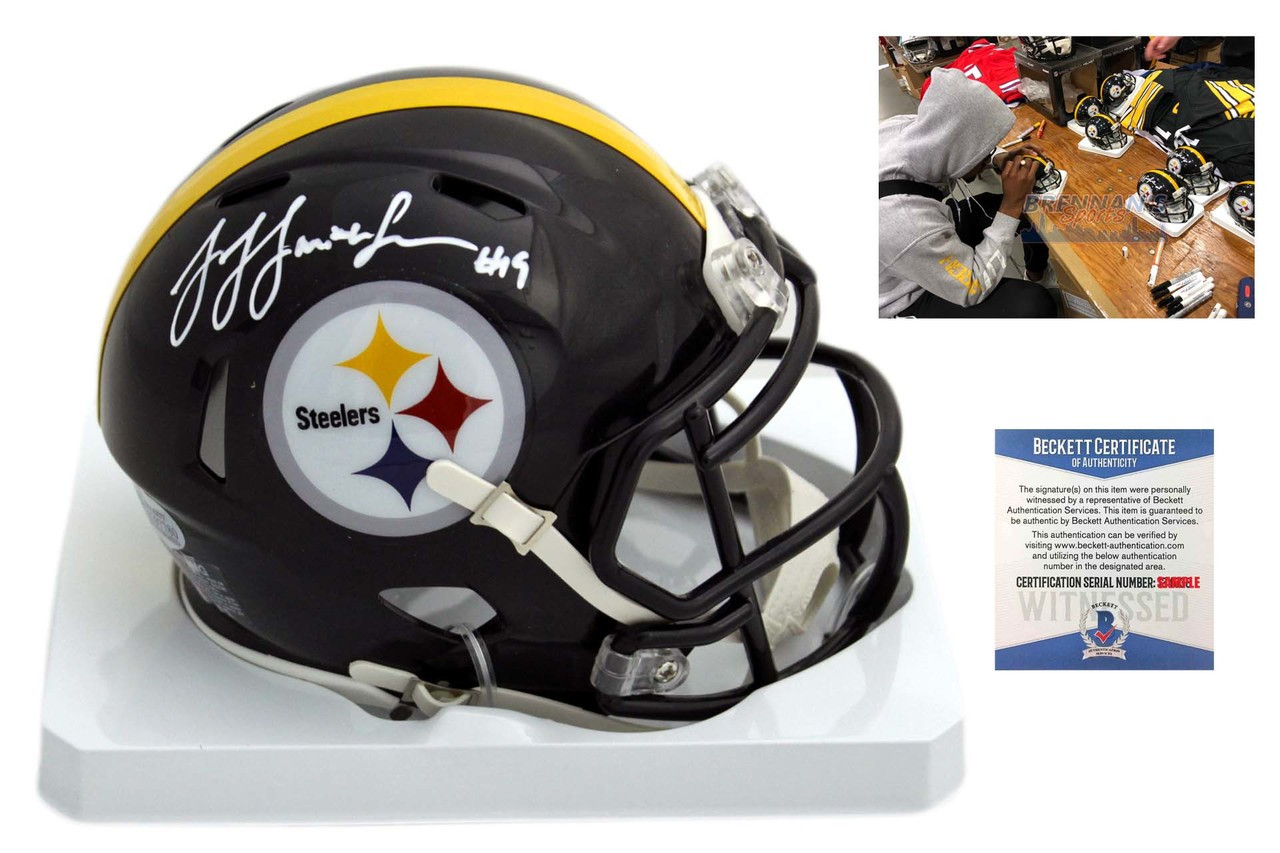 1086e3641 JuJu Smith-Schuster Autographed SIGNED Pittsburgh Steelers Speed Mini Helmet