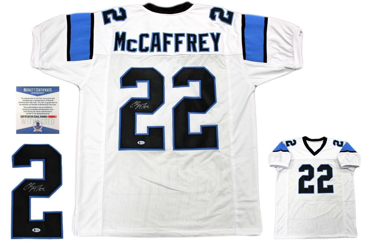 6924fbced Christian McCaffrey Autographed Signed Jersey - White - Beckett Authentic