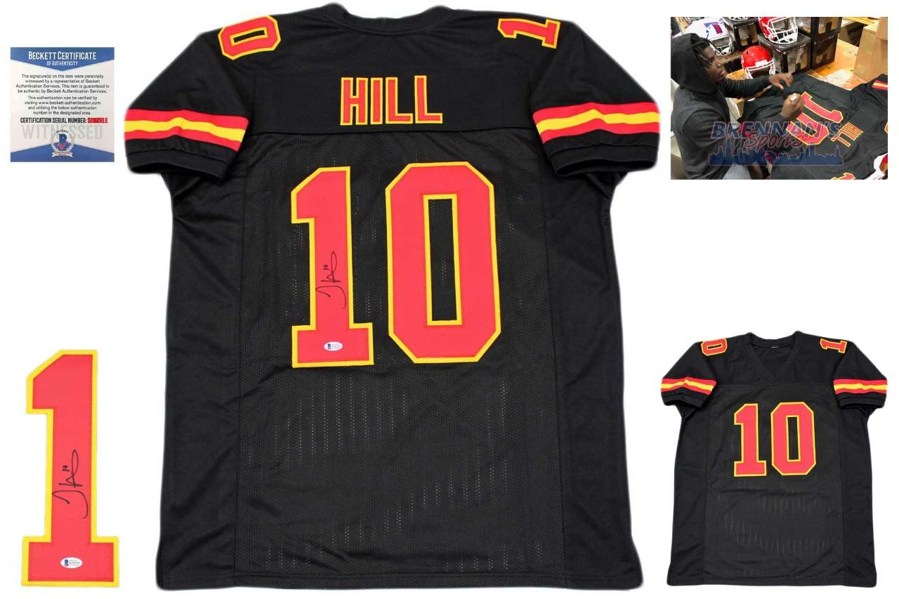 watch bfb2c edbbf Tyreek Hill Autographed Signed Jersey - Black - Beckett Authentic