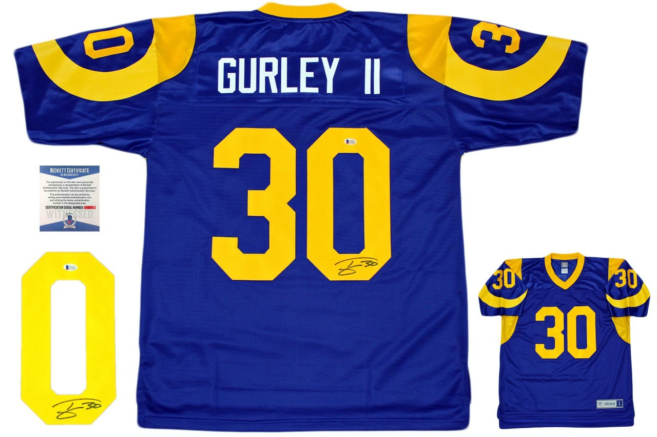 official photos 3818d adc28 Todd Gurley Autographed Los Angeles Rams Pro Line Jersey - Beckett Authentic