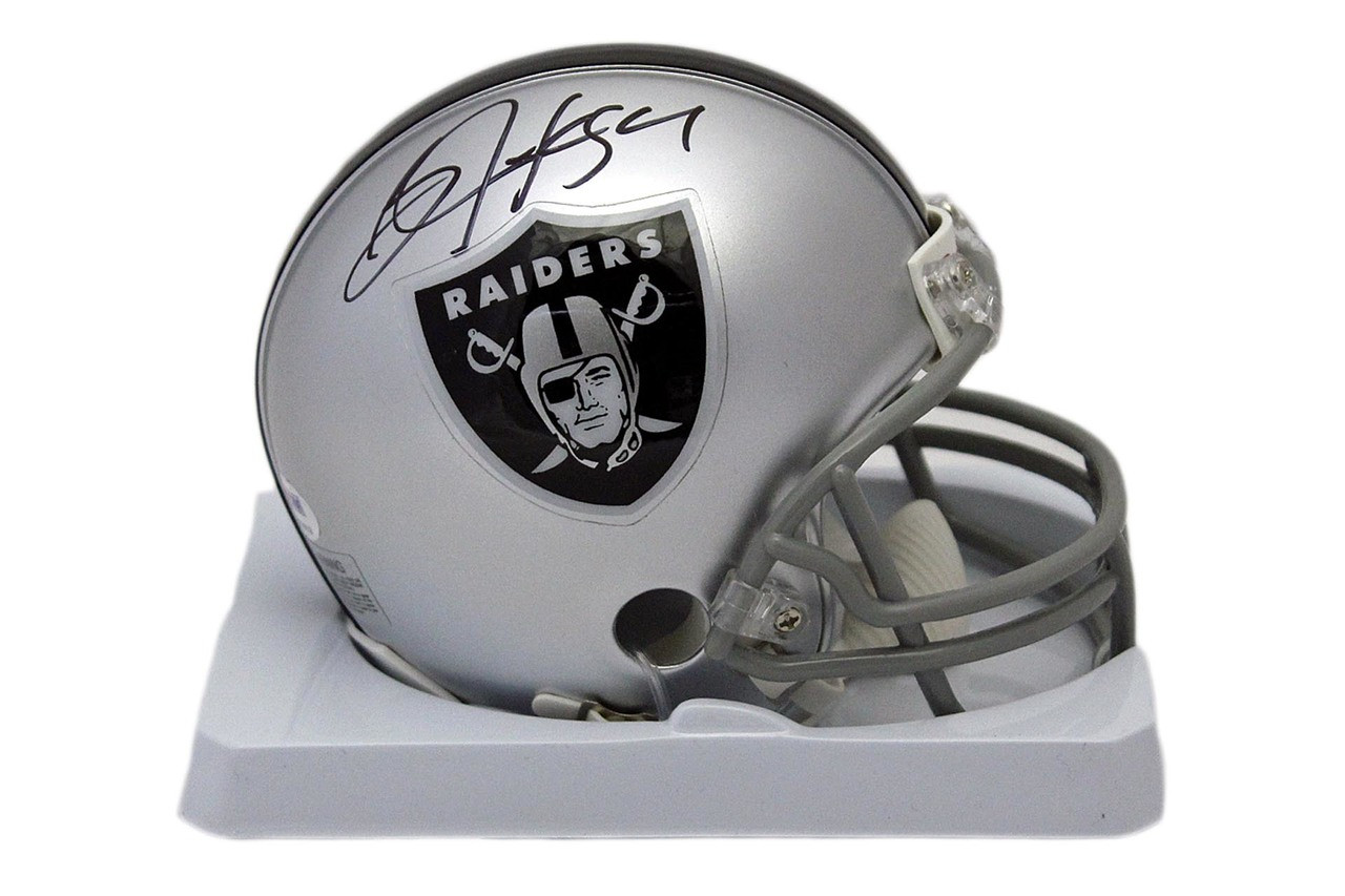 online store cd007 00310 Oakland Raiders Bo Jackson Autographed Signed Mini-Helmet - Beckett  Authentic