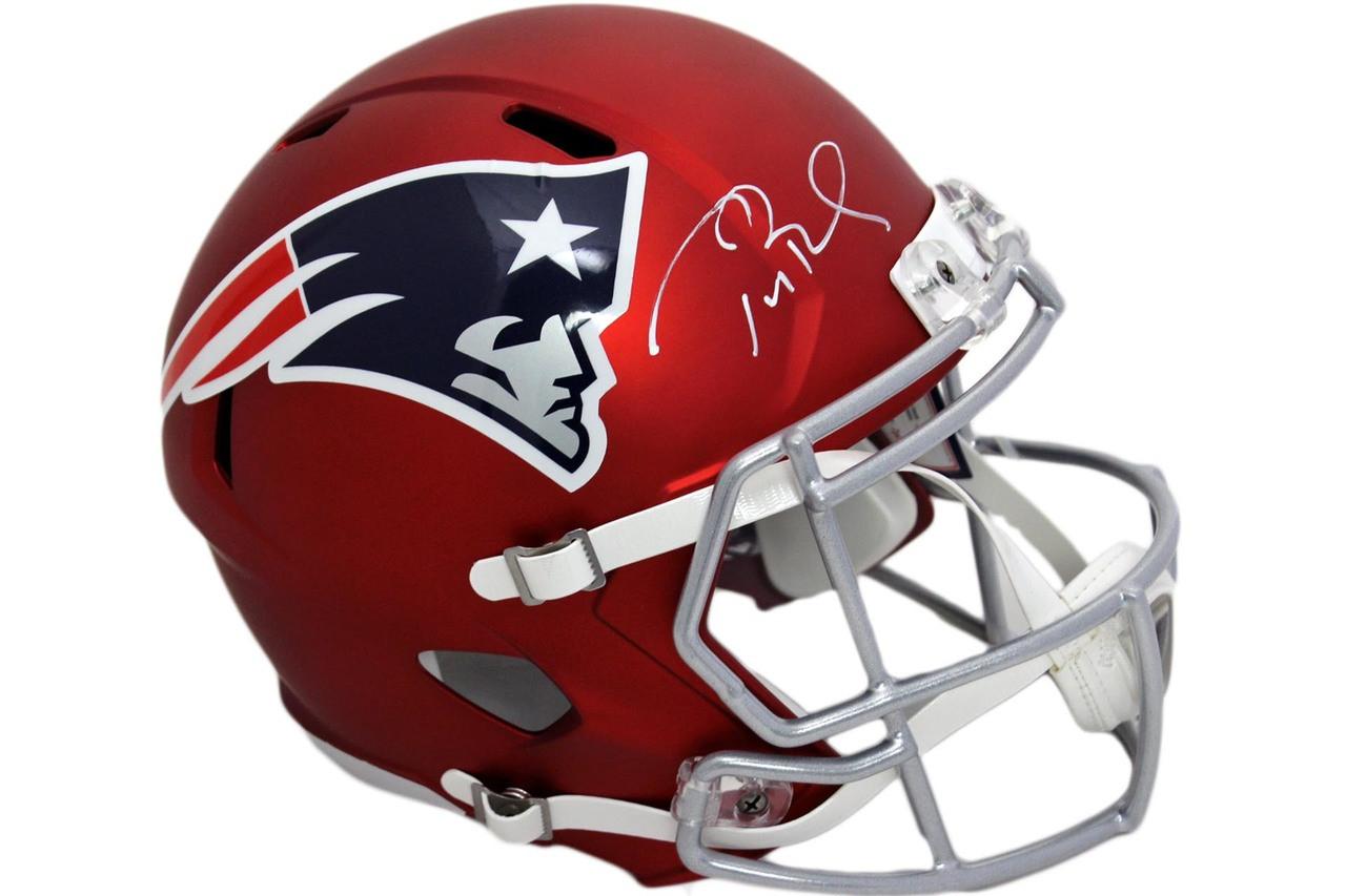 official photos 98401 9a92e Patriots Tom Brady Autographed Speed Blaze Helmet - Tristar Authentic