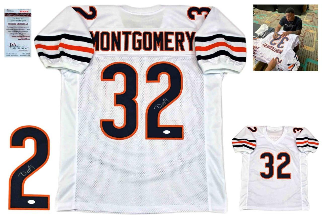 huge discount edced 82feb David Montgomery Autographed Signed Jersey - White - JSA Authentic