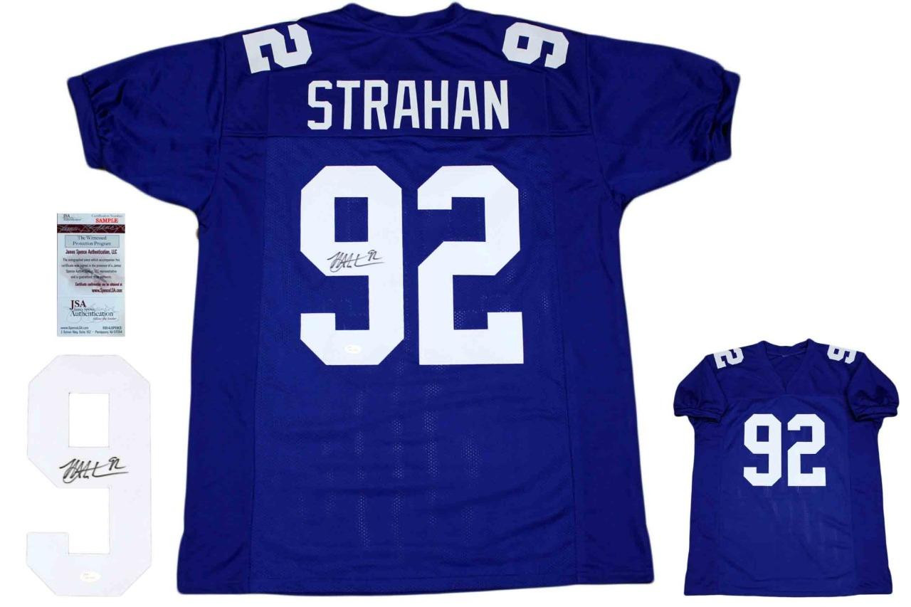 info for dc96e 262c9 Michael Strahan Autographed Signed Jersey - Royal - JSA Authentic