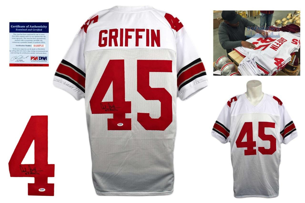c600b9084d7 Archie Griffin Signed Jersey - PSA DNA - Ohio State Buckeyes Autographed -  WHT ...