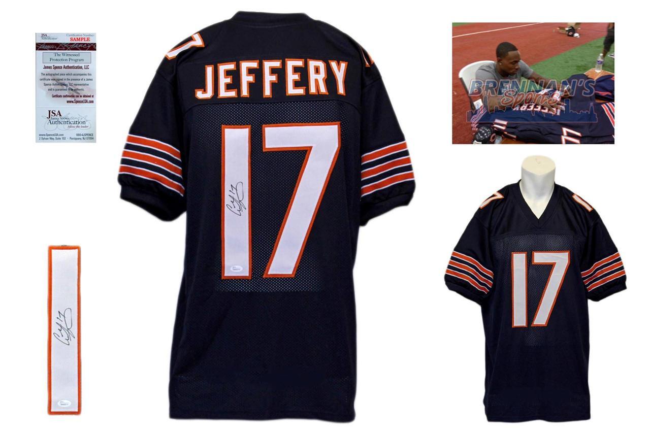 online store 50dd7 d07ab Alshon Jeffery Signed Navy Jersey - JSA Witness - Chicago Bears Autograph