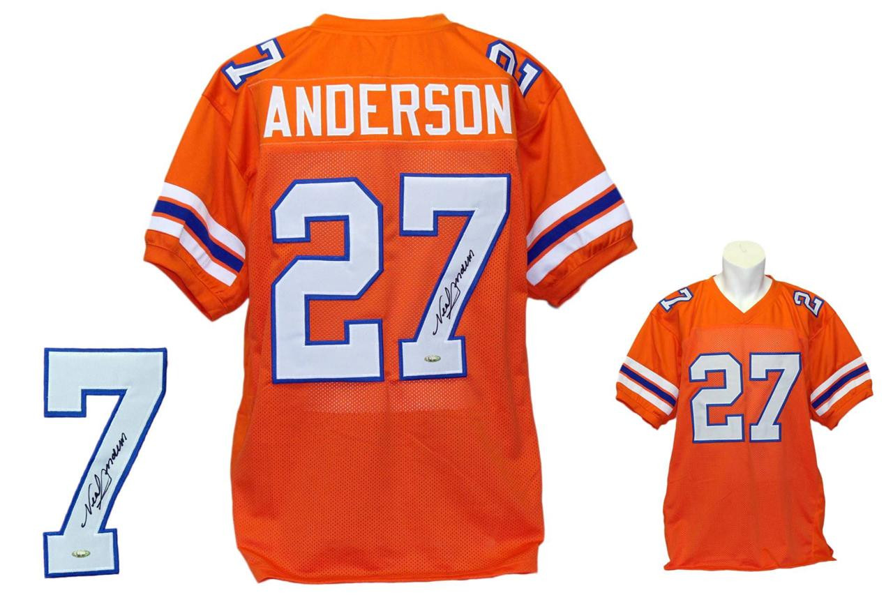 ab24f4f72c1 Neal Anderson Autographed Signed Chicago Florida Gators Orange Jersey  Tristar ...