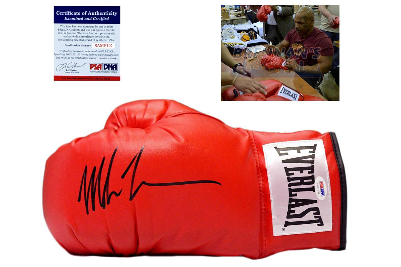 408d412a01d Mike Tyson Signed Autographed Everlast Boxing Gloves - PSA DNA ...