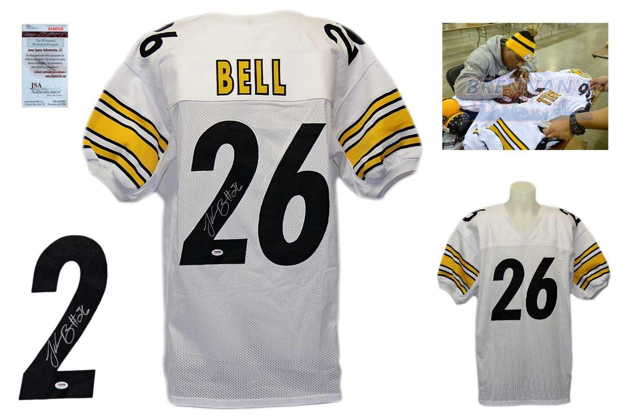 58ff39b47fb LeVeon Bell Signed Jersey - JSA Witnessed - Pittsburgh Steelers Autographed  - WHT ...