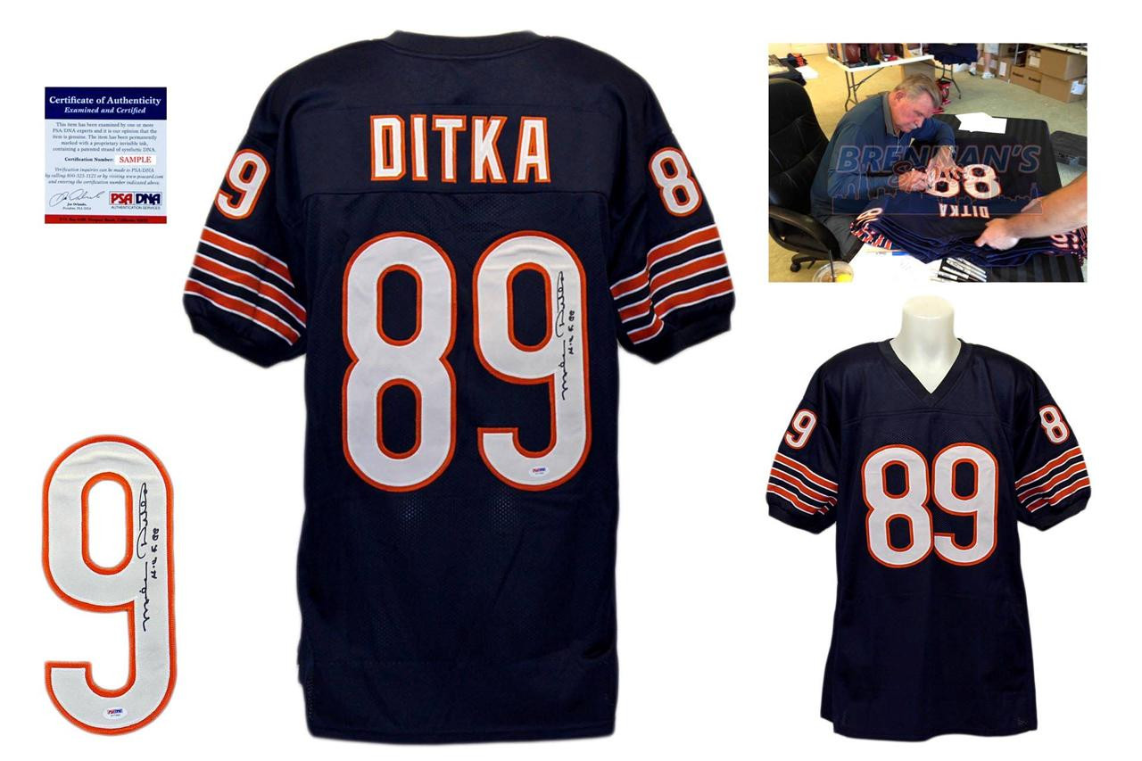 dd7e3263267 Mike Ditka Signed Jersey - Chicago Bears Autographed - PSA DNA ...