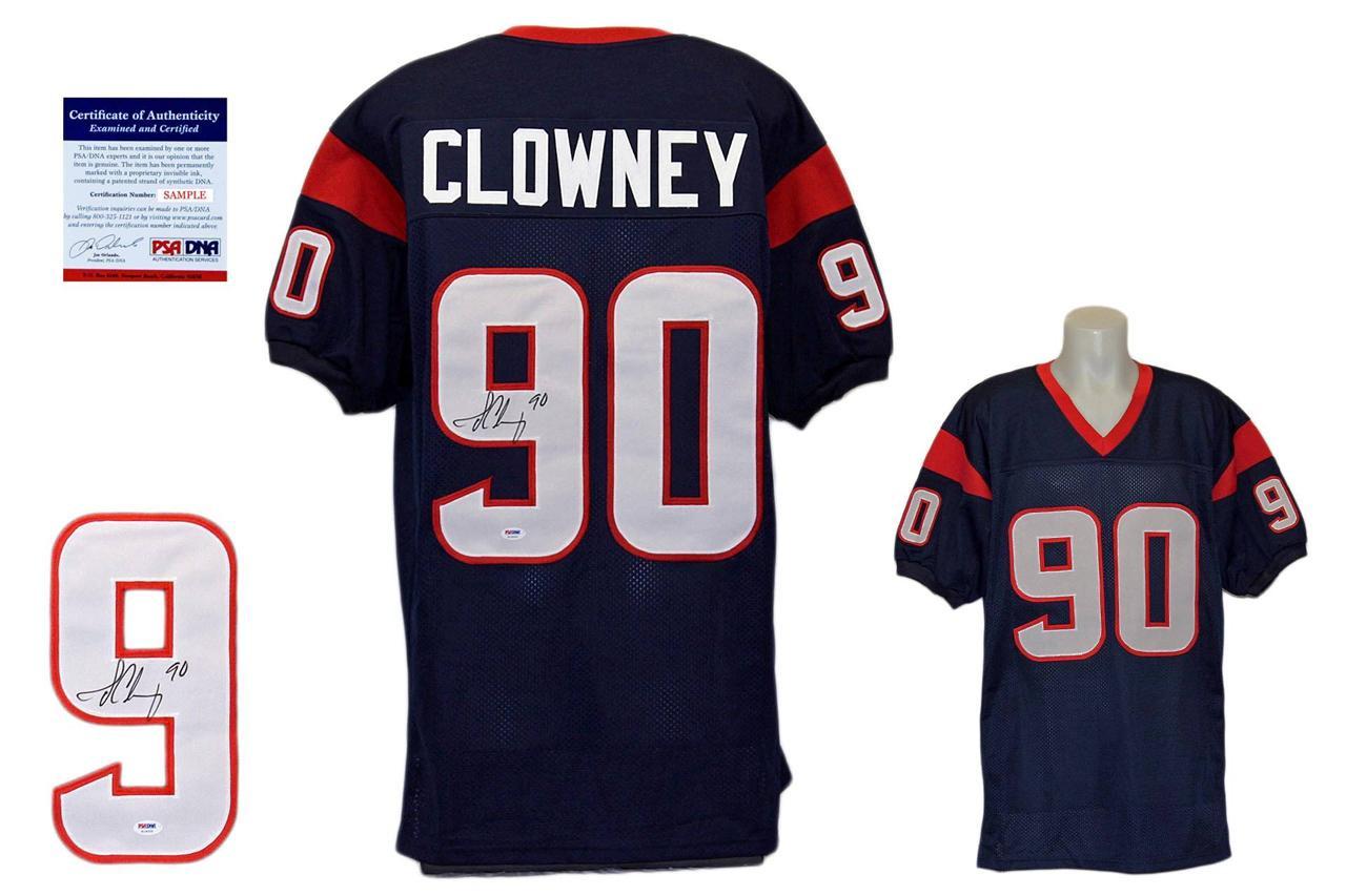 Jadeveon Clowney Signed Jersey - PSA DNA - Houston Texans Autograph - Navy